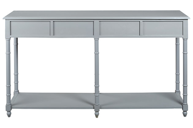Eirdale Sofa/Console Table, Gray, large