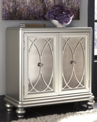 Cabinet Silver Finish Accent Product Photo 2063