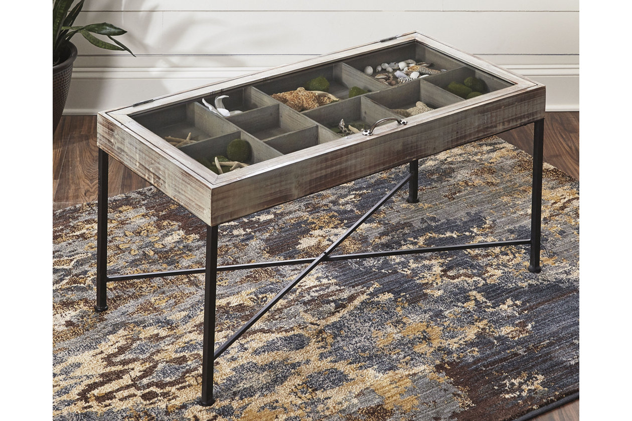 Smond Coffee Table With Display Case Ashley Furniture