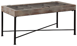 Shellmond Coffee Table with Display Case, , large