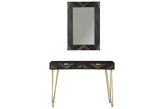 Coramont Console Table with Mirror, , large