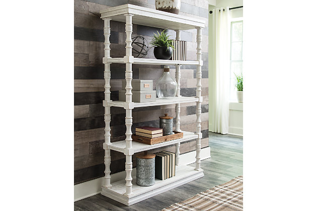 "Dannerville 74"" Bookcase, White, large"