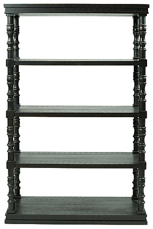 "Dannerville 74"" Bookcase, Antique Black, large"