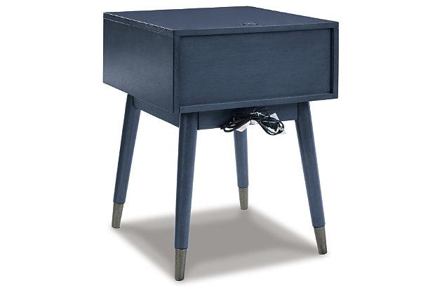 Paulrich Accent Table, Antique Blue, large