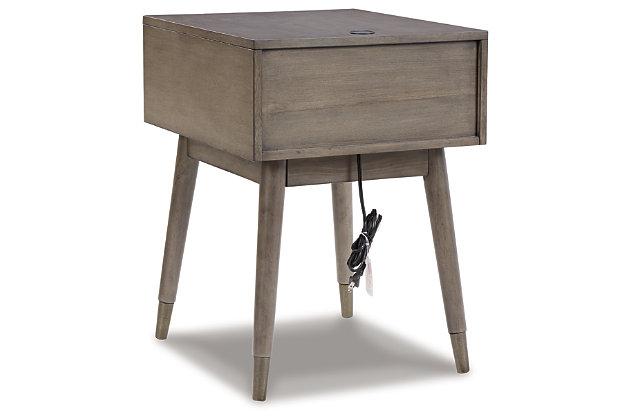 Paulrich Accent Table, Antique Gray, large
