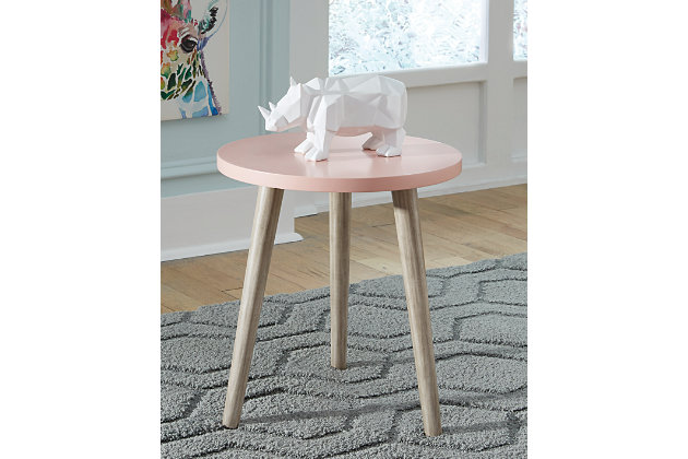 Fullersen Accent Table, Pink, large