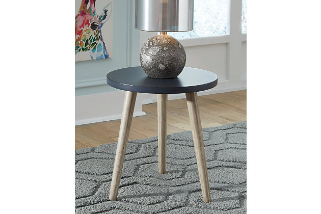 Fullersen Accent Table, Blue, large