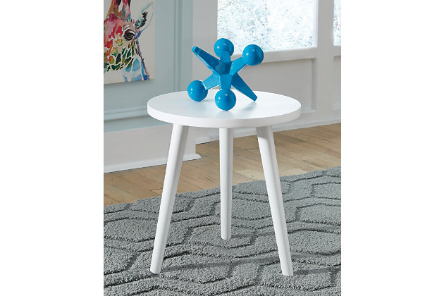 Fullersen Accent Table, White, large