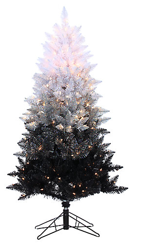 Holiday 5Ft. Vintage Black Ombre Spruce with 250 Clear Lights, , large