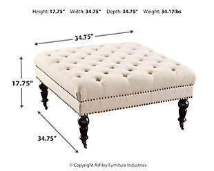 Swell Isabelle Square Tufted Ottoman Ashley Furniture Homestore Cjindustries Chair Design For Home Cjindustriesco