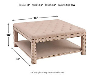 Nora Upholstered Coffee Table Ottoman, , large