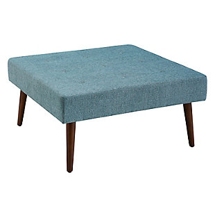 Charlotte Upholstered Coffee Table Ottoman, , rollover