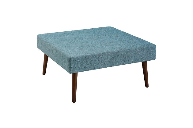 Charlotte Upholstered Coffee Table Ottoman, , large