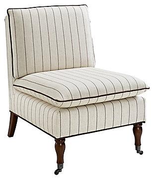 Reina Stripe Pillow Top Slipper Chair, , large