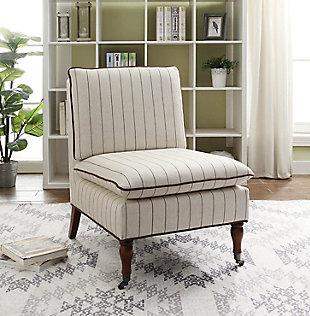 Reina Stripe Pillow Top Slipper Chair, , rollover