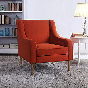 Tilton Accent Chair with Gold Legs, , large