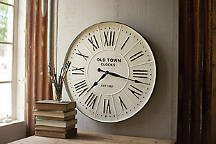Metal Enameled Wall Clock, , large