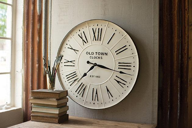 Metal Enameled Wall Clock, , large