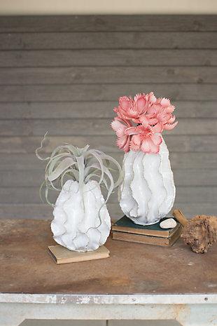 Ceramic Ruffle Large Vase, , rollover