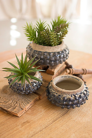 Knobby Ceramic Planters (Set of 3), , rollover