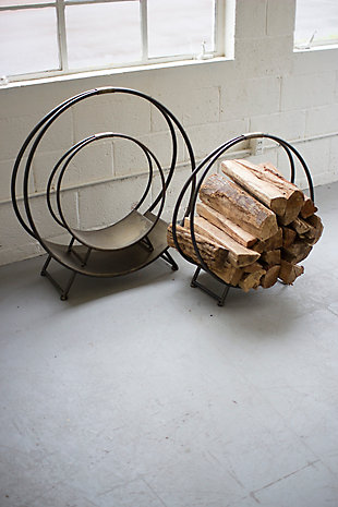 Metal Firewood Racks (Set of 3), , rollover