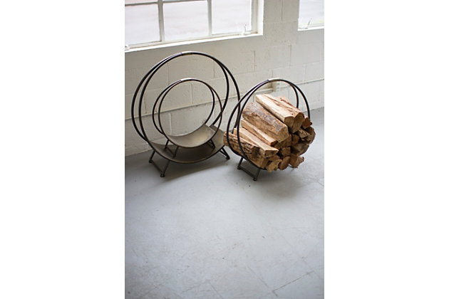 Metal Firewood Racks (Set of 3), , large