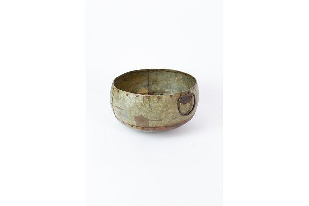 Metal Bowl With Handles, , large