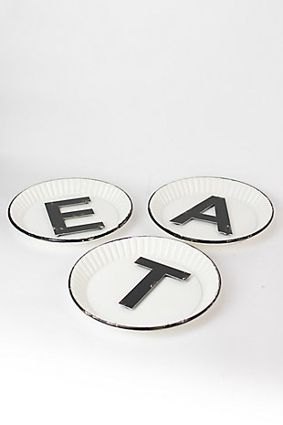 "Rustic Tin ""Eat"" Sign (Set of 3), , large"
