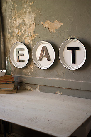 "Rustic Tin ""Eat"" Sign (Set of 3), , rollover"