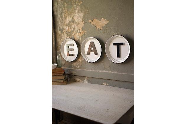 "Rustic Tin ""Eat"" Sign (Set of 3), , large"
