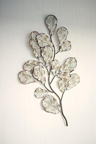 Metal Oak Leaves Wall Décor, , rollover