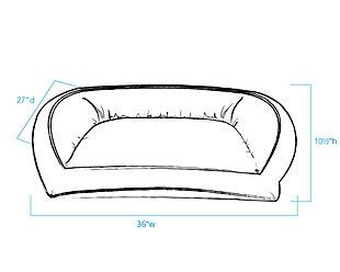 Ortho Medium Quilted Microfiber Bolster Pet Bed, Beige, large