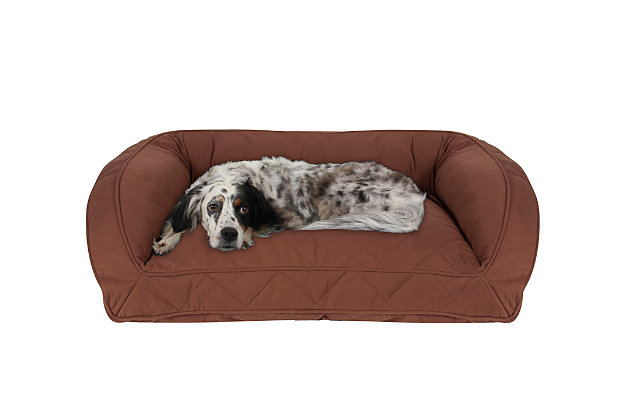 Ortho Medium Quilted Microfiber Bolster Pet Bed, , large