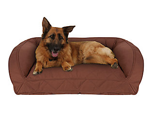Ortho Large Quilted Microfiber Bolster Pet Bed, , rollover