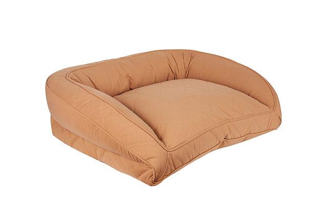 Ortho Medium Quilted Microfiber Bolster Pet Bed, Saddle, large