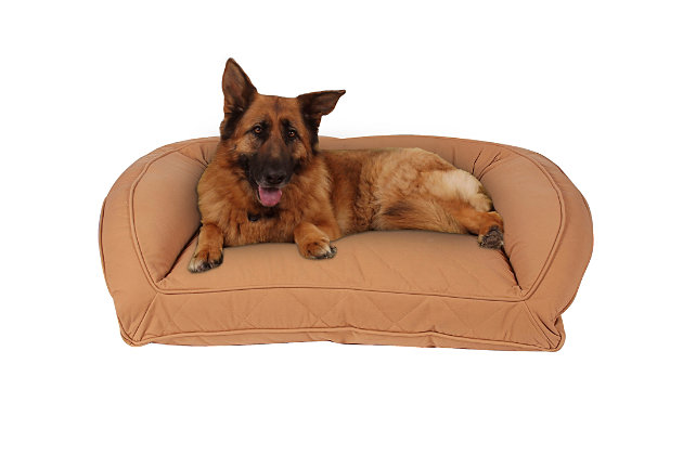 Ortho Large Quilted Microfiber Bolster Pet Bed, Saddle, large