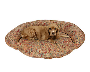 Tapestry Medium Bolster Pet Bed, Tapestry, rollover