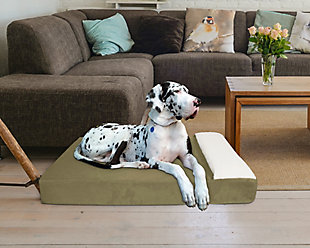 Lounger Large Pet Bed, Sage, rollover