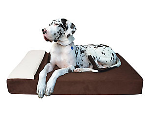 Lounger Large Pet Bed, Chocolate, rollover