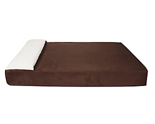 Lounger Large Pet Bed, Chocolate, large