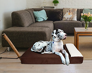 Lounger X-Large Pet Bed, Chocolate, rollover