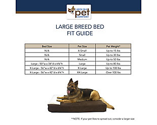 Lounger X-Large Pet Bed, Chocolate, large