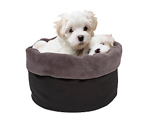 Round Puff Pet Bed, , rollover