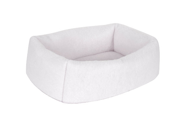 Mysterious Kitty Kuddler® Pet Bed, White, large