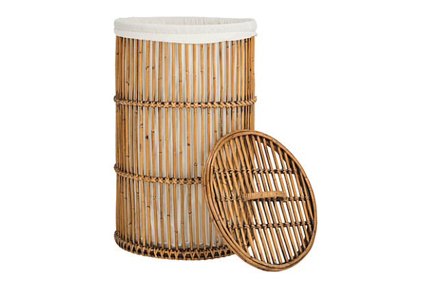 Rattan Storage Hampers With Liner, , large