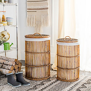 Rattan Storage Hampers With Liner, , rollover