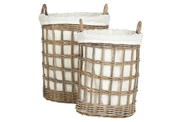 Wicker Storage Hampers, , large