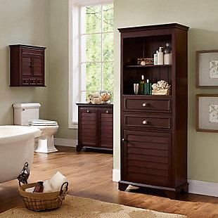 Tall Organizer Cabinet, Espresso, large