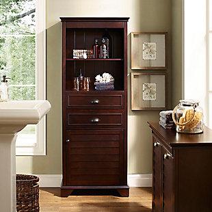 Tall Organizer Cabinet, Espresso, rollover