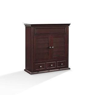 Wall Organizer Cabinet, Espresso, large